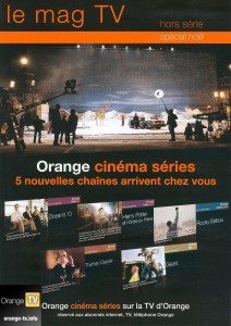 orange fait de la pub pour ocs dans les magazines tv. Black Bedroom Furniture Sets. Home Design Ideas