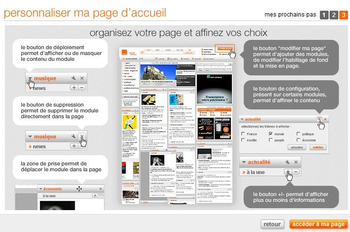 Page d'accueil personnalisée
