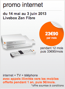 promo la fibre orange moins de 24 par mois. Black Bedroom Furniture Sets. Home Design Ideas