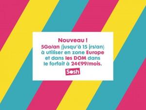 sosh 5Go an europe