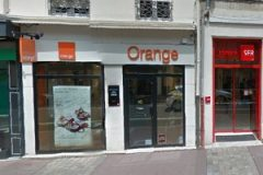 Boutique Orange avenue des Frères Lumières Lyon - capture d'écran google street view