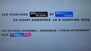 Mir arret des chaînes M6 Music Club et Black