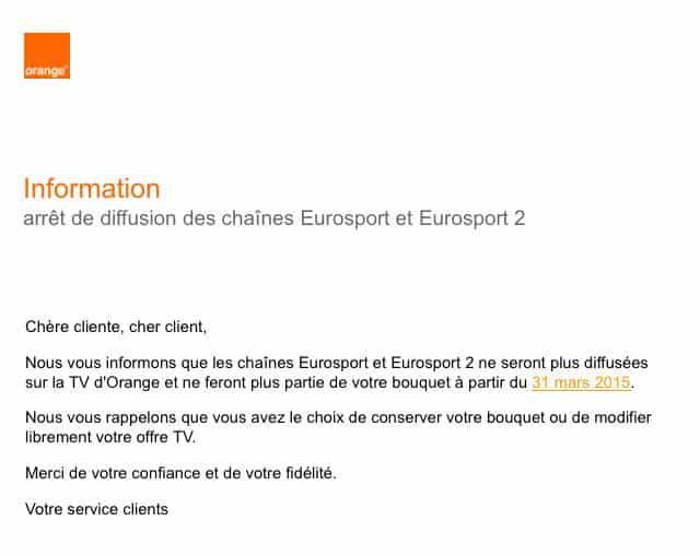 Fin Eurosport Orange