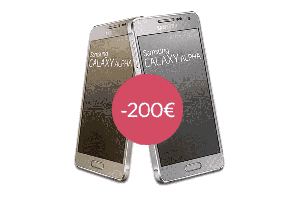vente flash sosh 200 sur le samsung galaxy alpha. Black Bedroom Furniture Sets. Home Design Ideas