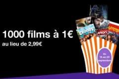 VOD 1000 films à 1€ septembre 2015