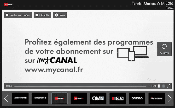 Fin de SFR Sport sur Canalsat