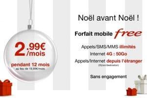 Promo Free Noël 2016