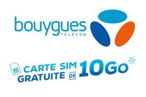 carte sim gratuite bouygues Gratuit : Une carte SIM Bouygues Téléavec 10 Go de DATA