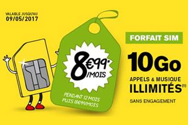 code promo la poste mobile le forfait 10 go 8 99 par mois. Black Bedroom Furniture Sets. Home Design Ideas