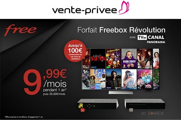 free lance une vente priv e sur la freebox r volution avec. Black Bedroom Furniture Sets. Home Design Ideas