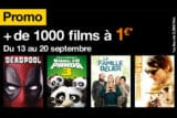 La VOD d'orange en promotion septembre 2018