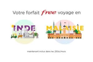 2 nouvelles destinations dans le roaming forfait free