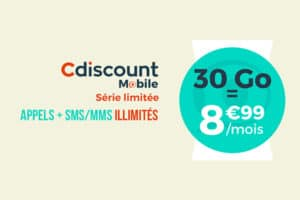 Promotion Cdiscount mobile fin octobre 2018