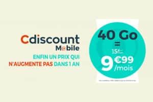 Promo cdiscount mobile forfait 40 Go