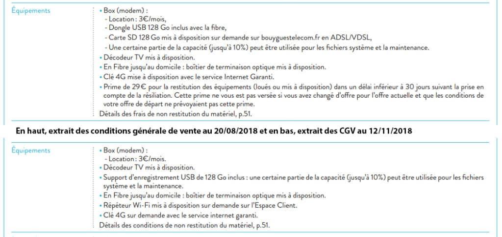Conditions générale de vente Bouygues Telecom