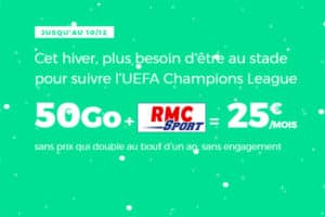 Promotion de Noel 2018 RED avec RMC Sport