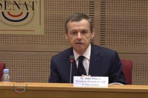Alain Weill devant la commission économique du Sénat