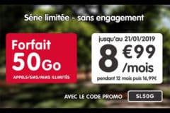 Promotion NRJ Mobile janvier 2019 50 Go pour 9€ par mois
