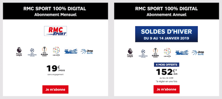 Soldes RMC Sport 2019
