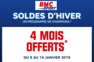 Soldes d'hiver 2019 RMC Sport