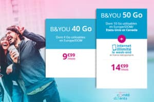 Série spéciale B&You avec data illimitée le week end