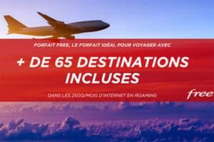Roaming Free depuis plus de 65 destinations