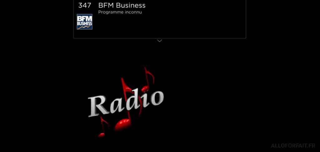 BFM Business flux audio sur la Freebox