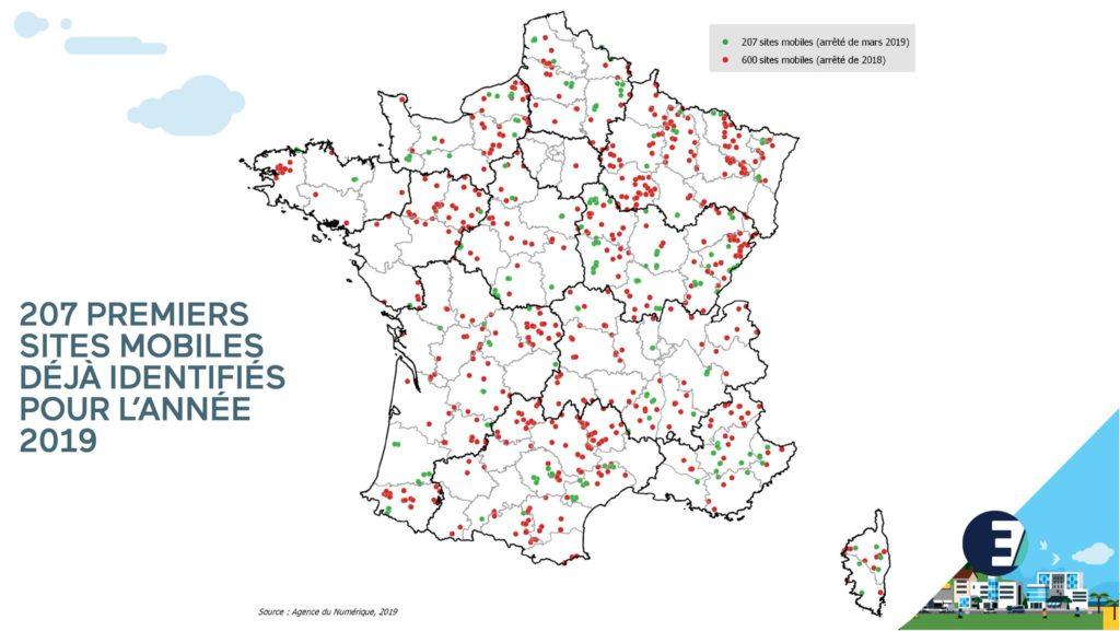 Les 207 premiers sites à déployer en zones blanche