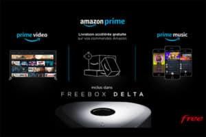 Amazon Prime inclut dans l'offre Freebox Delta