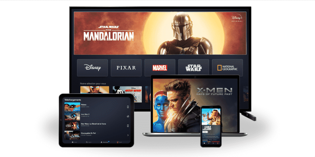 Interface de Disney +