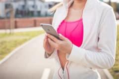 Smartphone et sortie sportive