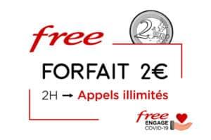 augmentation des appels forfait 2€ free
