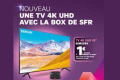 offre fibre sfr incluant une TV