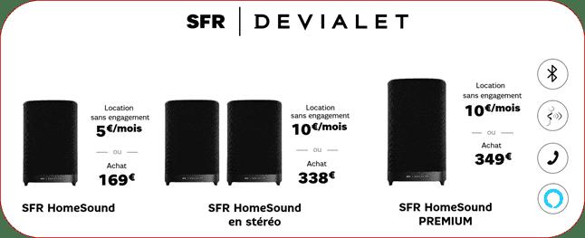SFR HomeSound avec Devialet