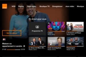 orange tv interface