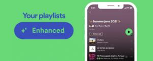 Spotify fonctionnalité Enrichir