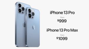 iPhone 13 Pro prix